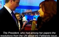 Presidente argentina con primer ministro de una monarquía.