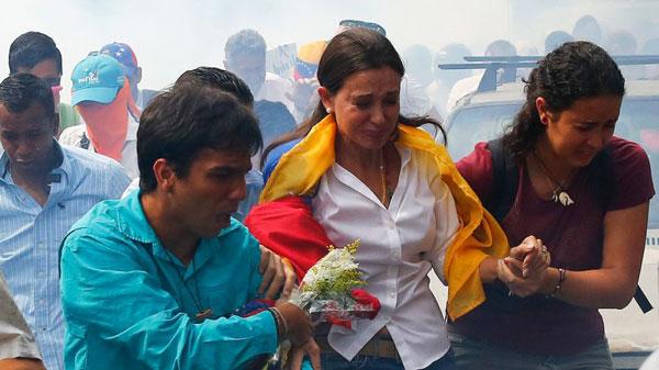 Diputada destituida María Corina Machado. Reuters
