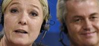 Le Pen y Wilders en Bruselas en una rueda de prensa conjunta Afp