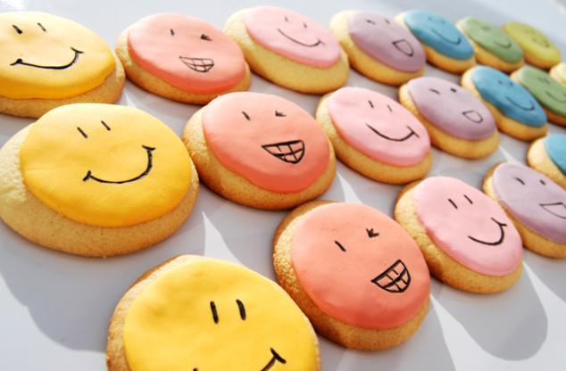 Una galleta, una sonrisa.