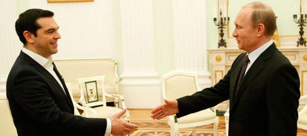 El presidente ruso Vladimir Putin recibe al primer ministro griego Alexis Tsipras Sasha Mordovets (Getty Images)