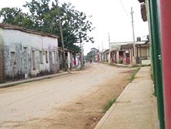 Calles sin asfalto desde 1959